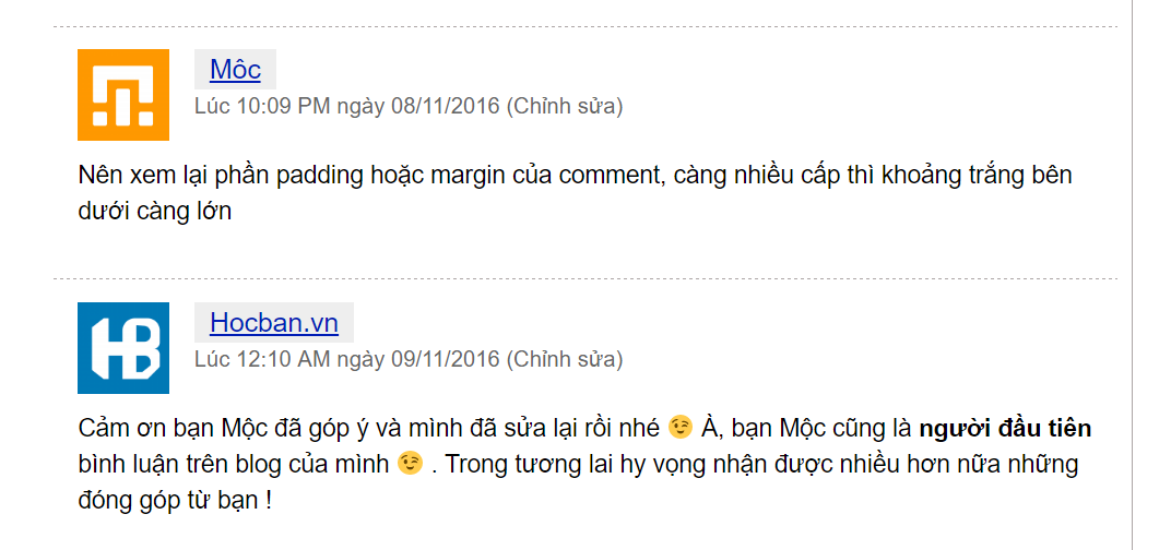 Vi du ve binh luan tren blog Hocban.vn