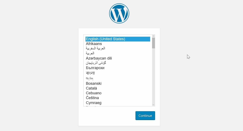 Chon ngon ngu cho website WordPress