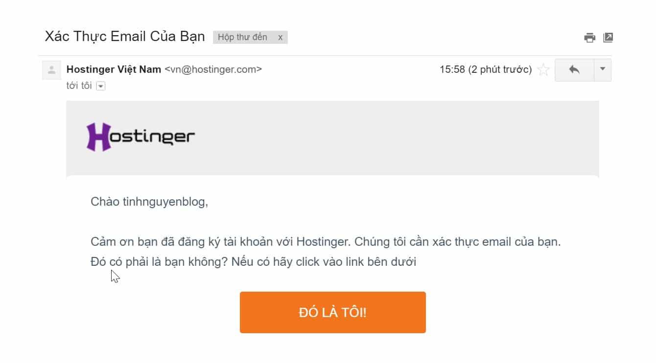Xac nhan dang ky trong tai khoan email