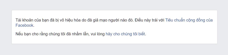 Facebook Tinh Nguyen bi report va ngung hoat dong