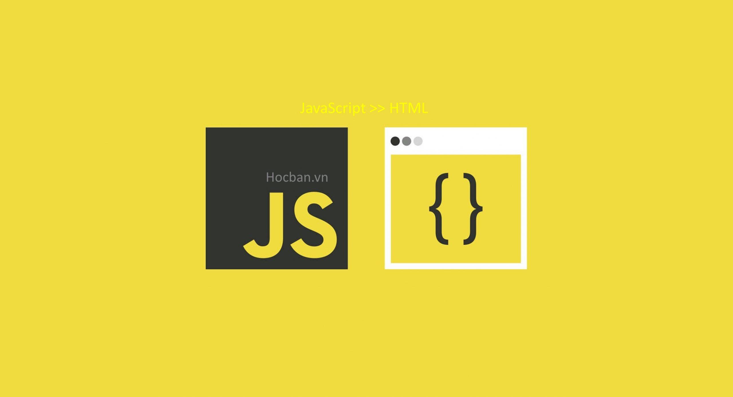 Nhung - chen javascript vao html