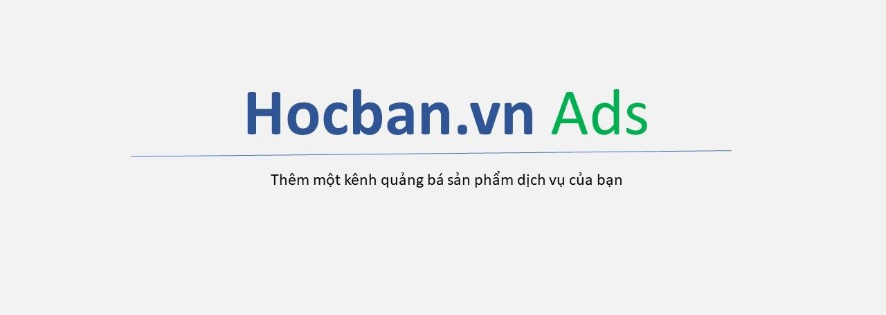 Quang cao tren hocbanvn