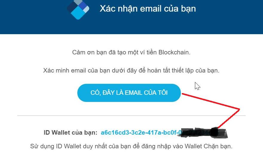 Xac nhan dia chi email da dang ky tai khoan Blockchain