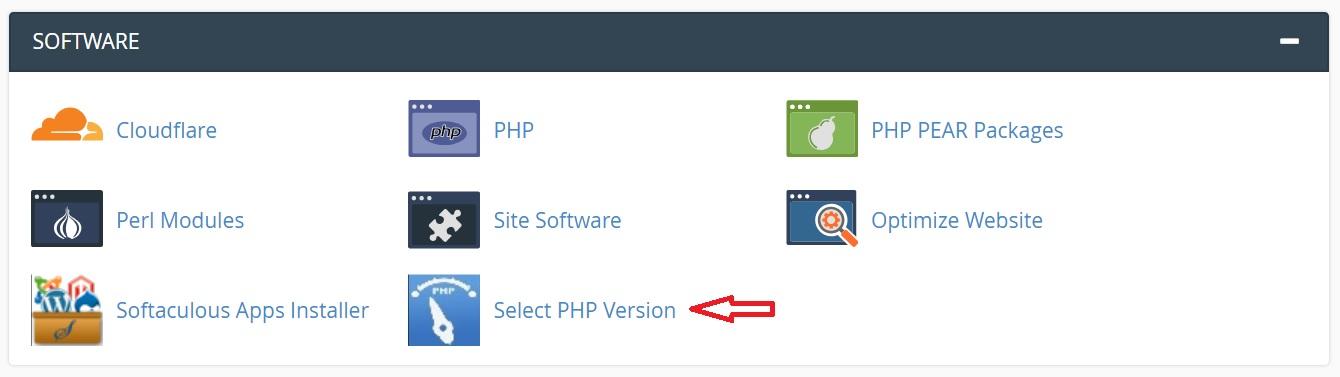 chon phien ban PHP