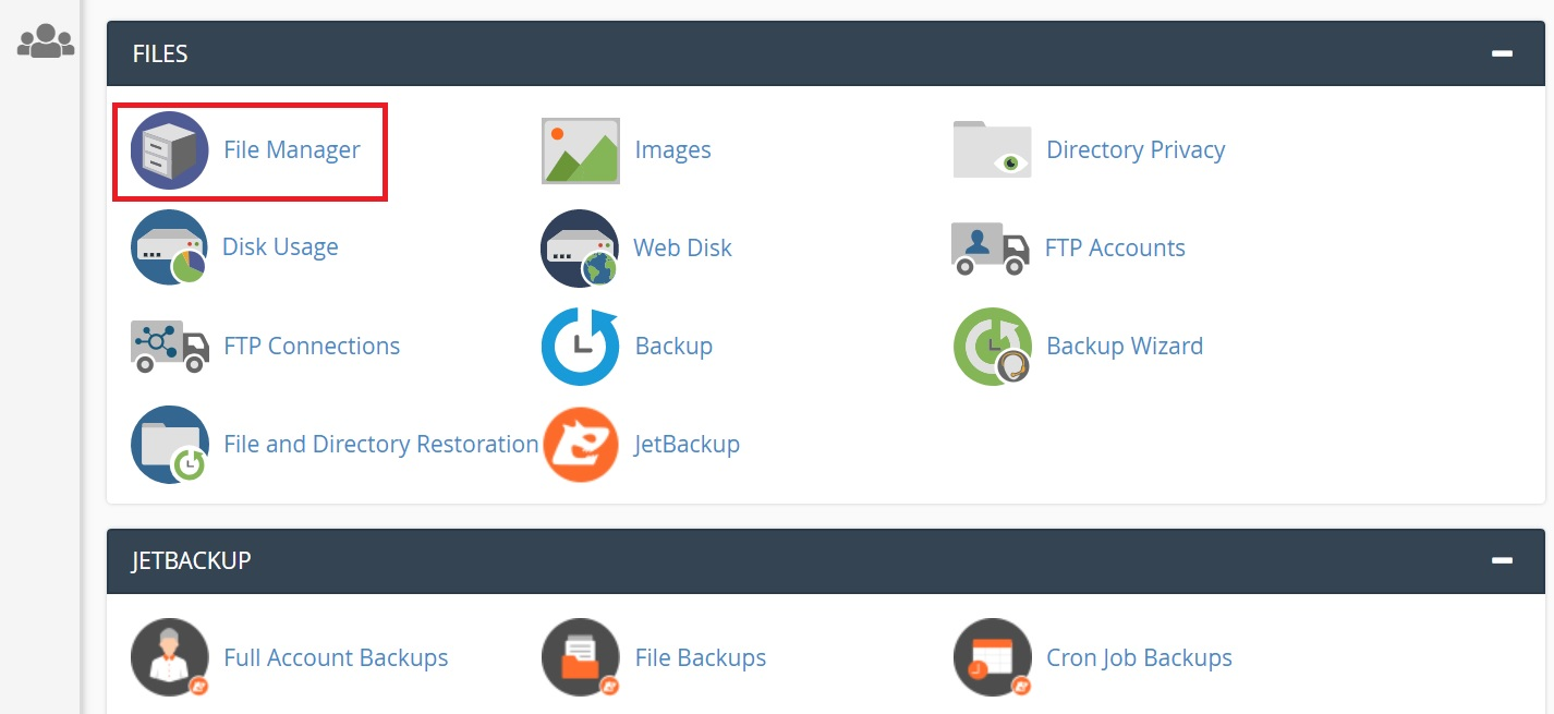 Mo trinh quan ly file - File Manager trong Cpanel