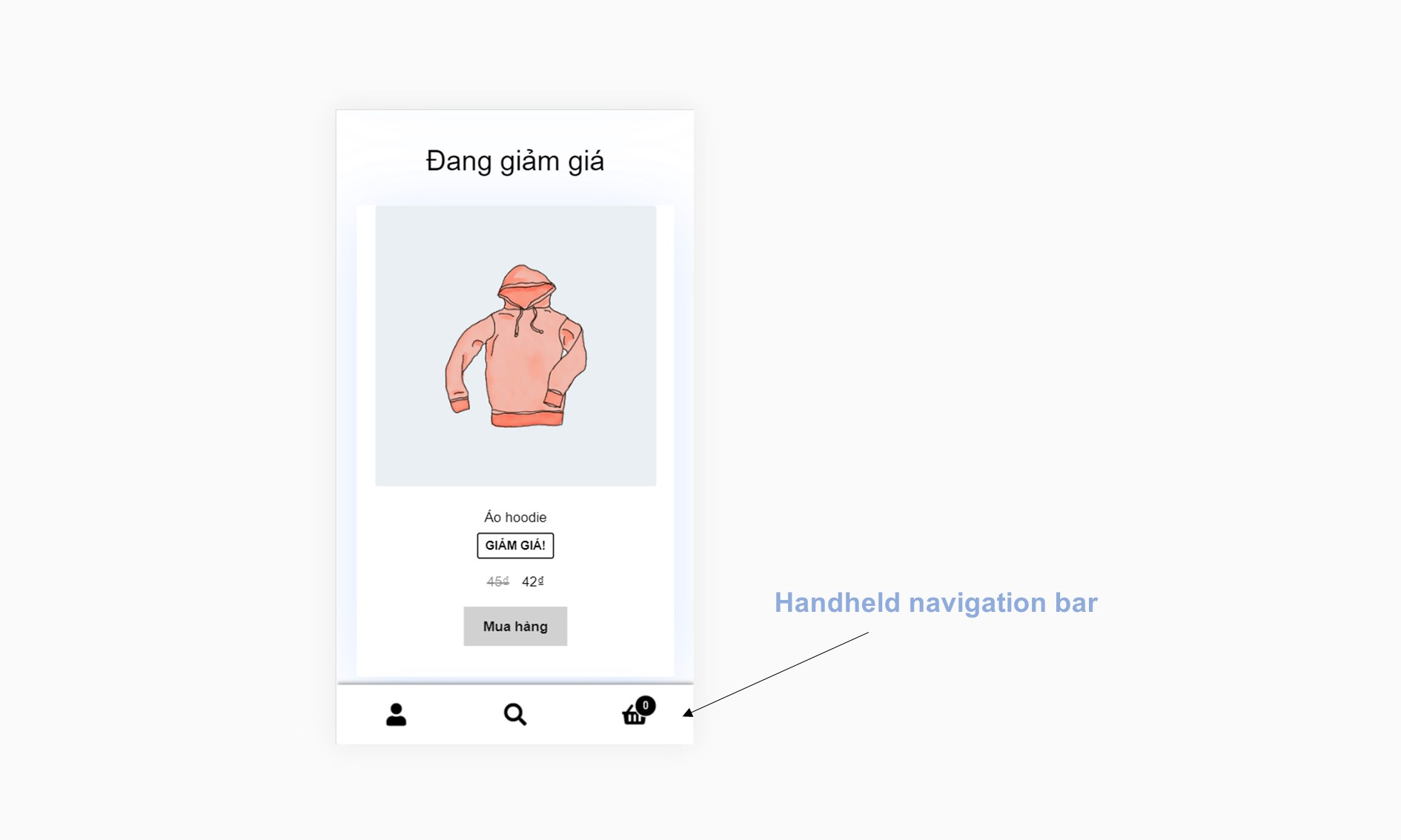 Thanh handheld navigation bar theme Storefront