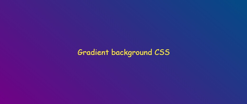 Gradient background CSS demo