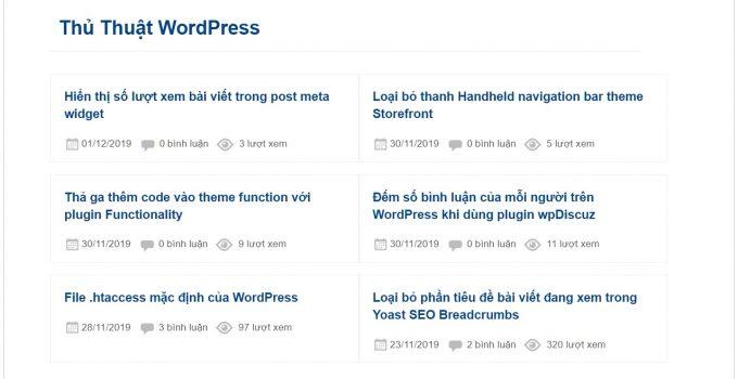 Hiển thị số lượt xem bài viết trong post meta của category post widget