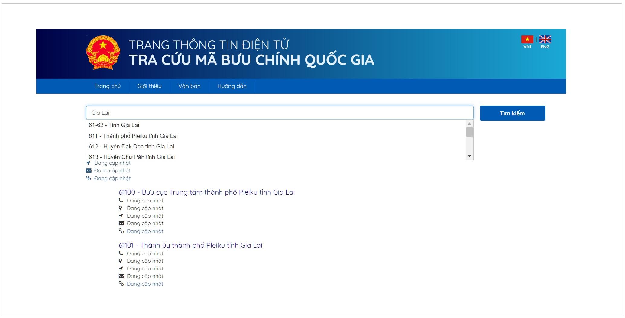 Tra cứu mã bưu chính tại Postcode.vn để có mã chuẩn xác