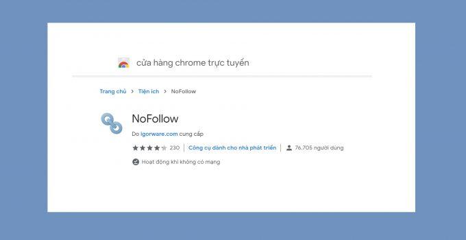 Cách kiểm tra link NoFollow – DoFollow trên Chrome