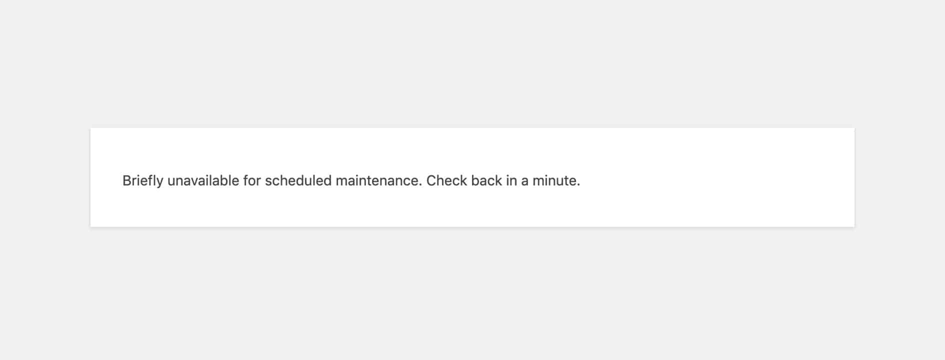 "Loi ""Briefly Unavailable for Scheduled Maintenance"" tren website WordPress"
