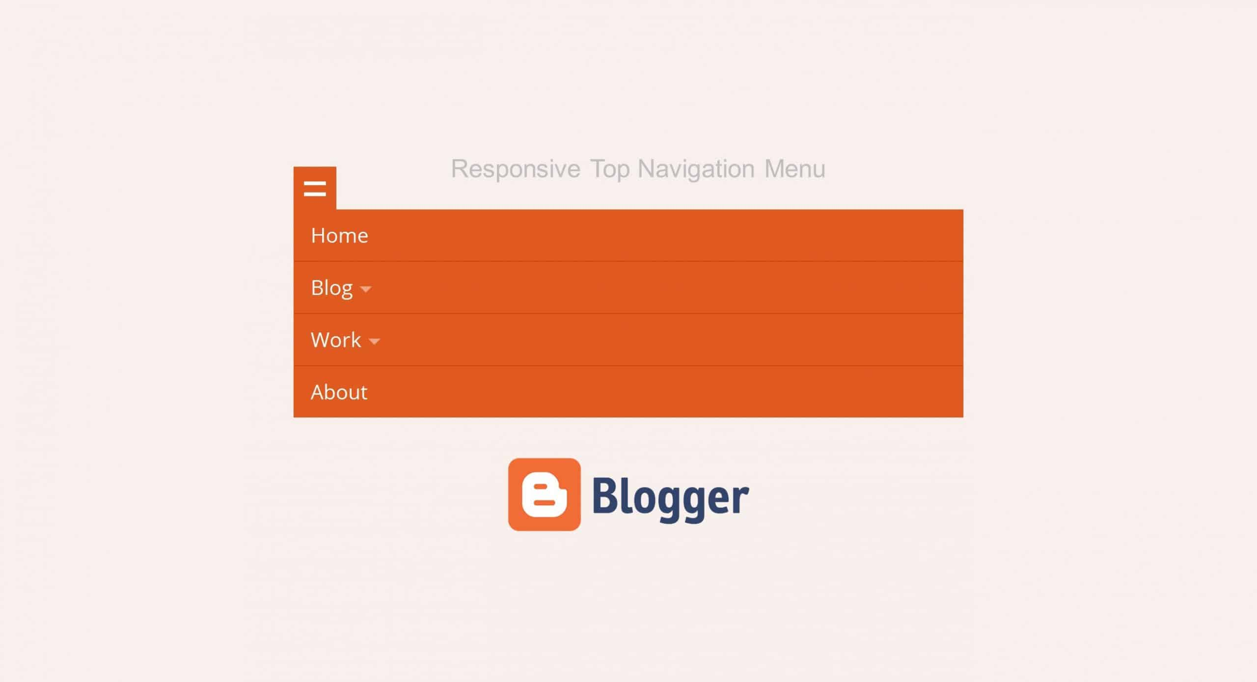 Responsive Top Navigation Menu cho Blogspot