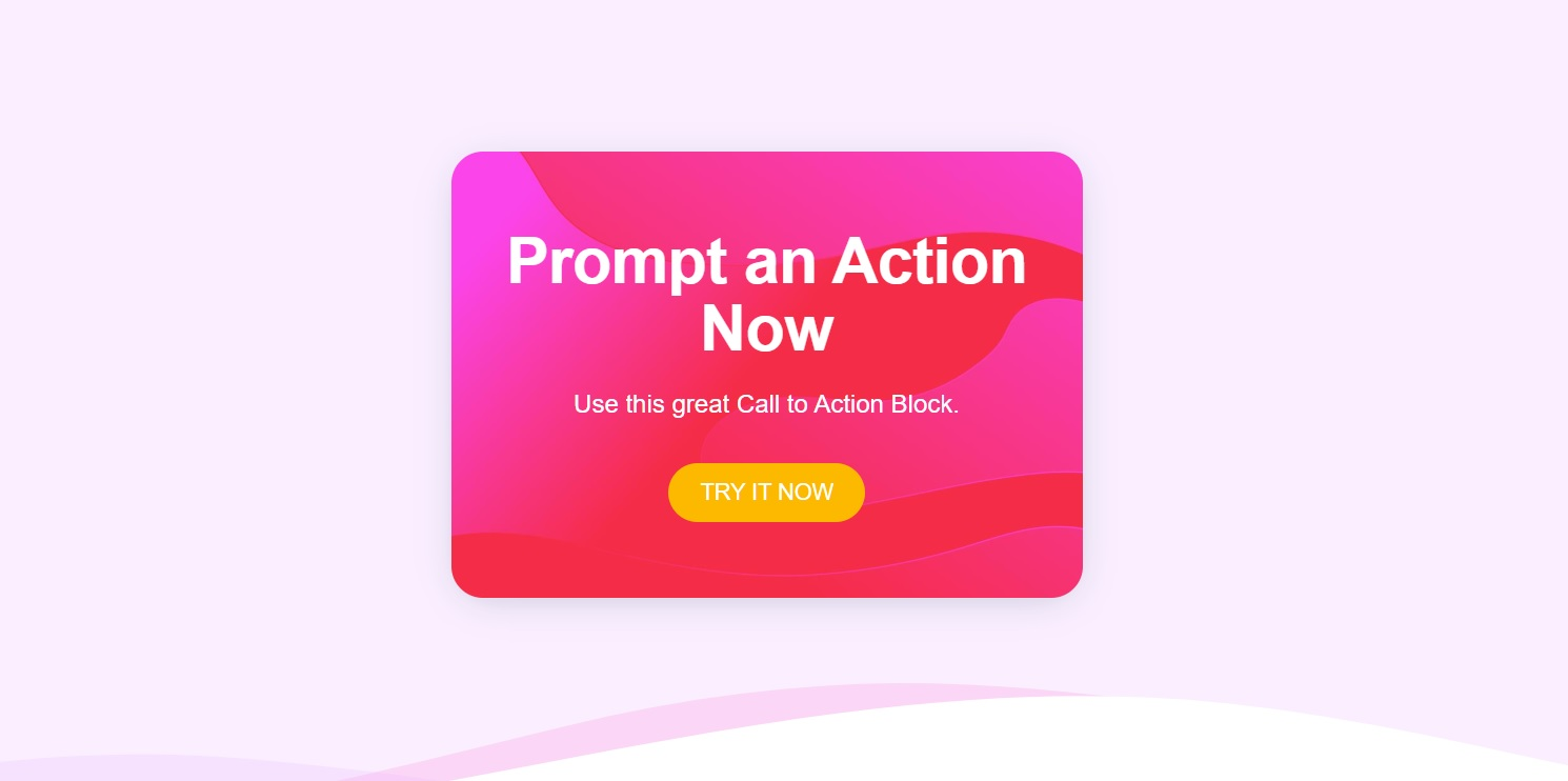 Stackable Call to Action Block Style 01