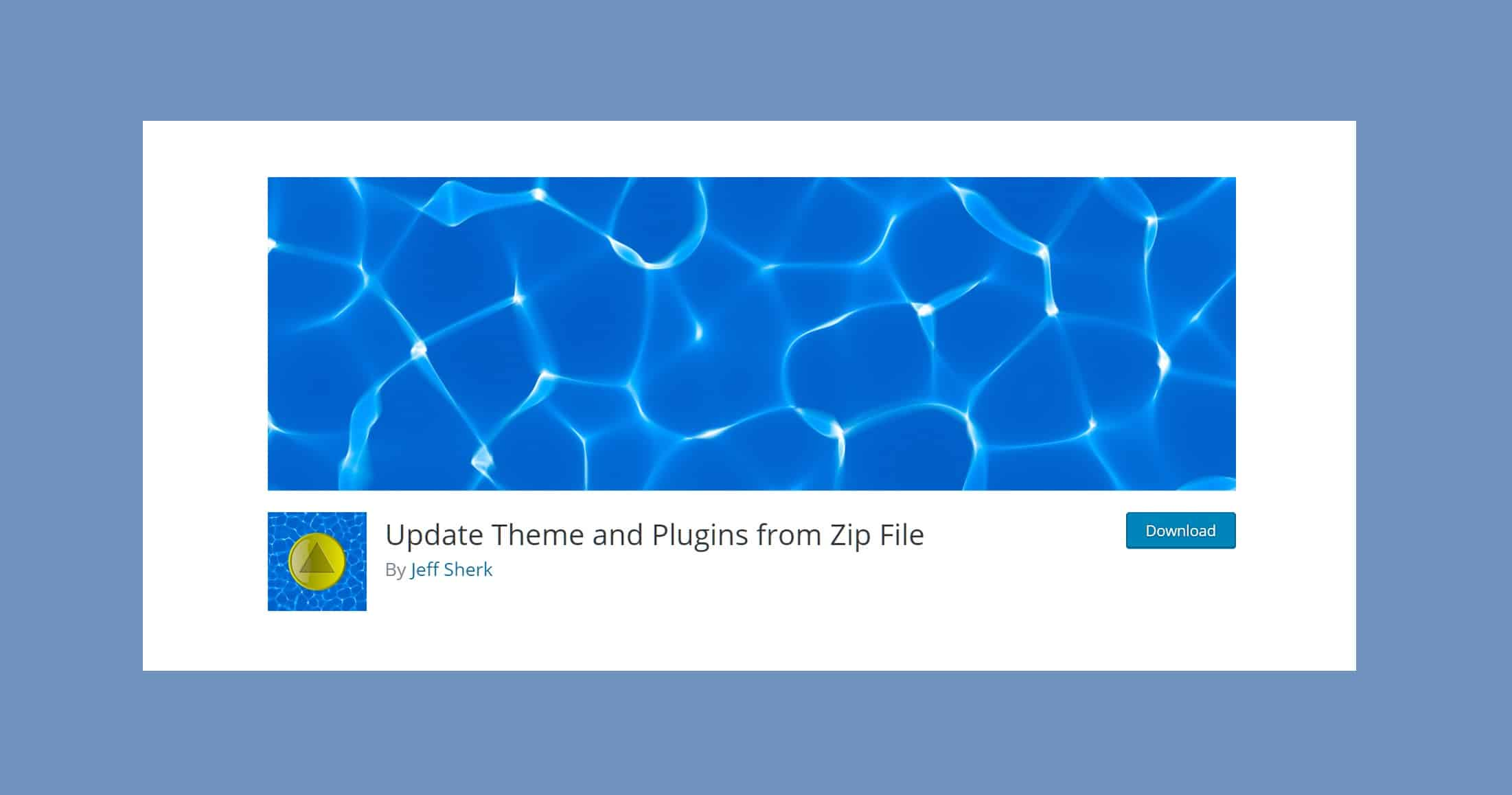 Su dung plugin Update Theme and Plugins from Zip File