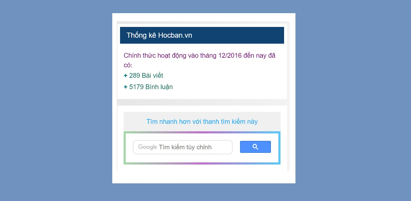 Thong ke tong so bai viet va binh luan tren WordPress