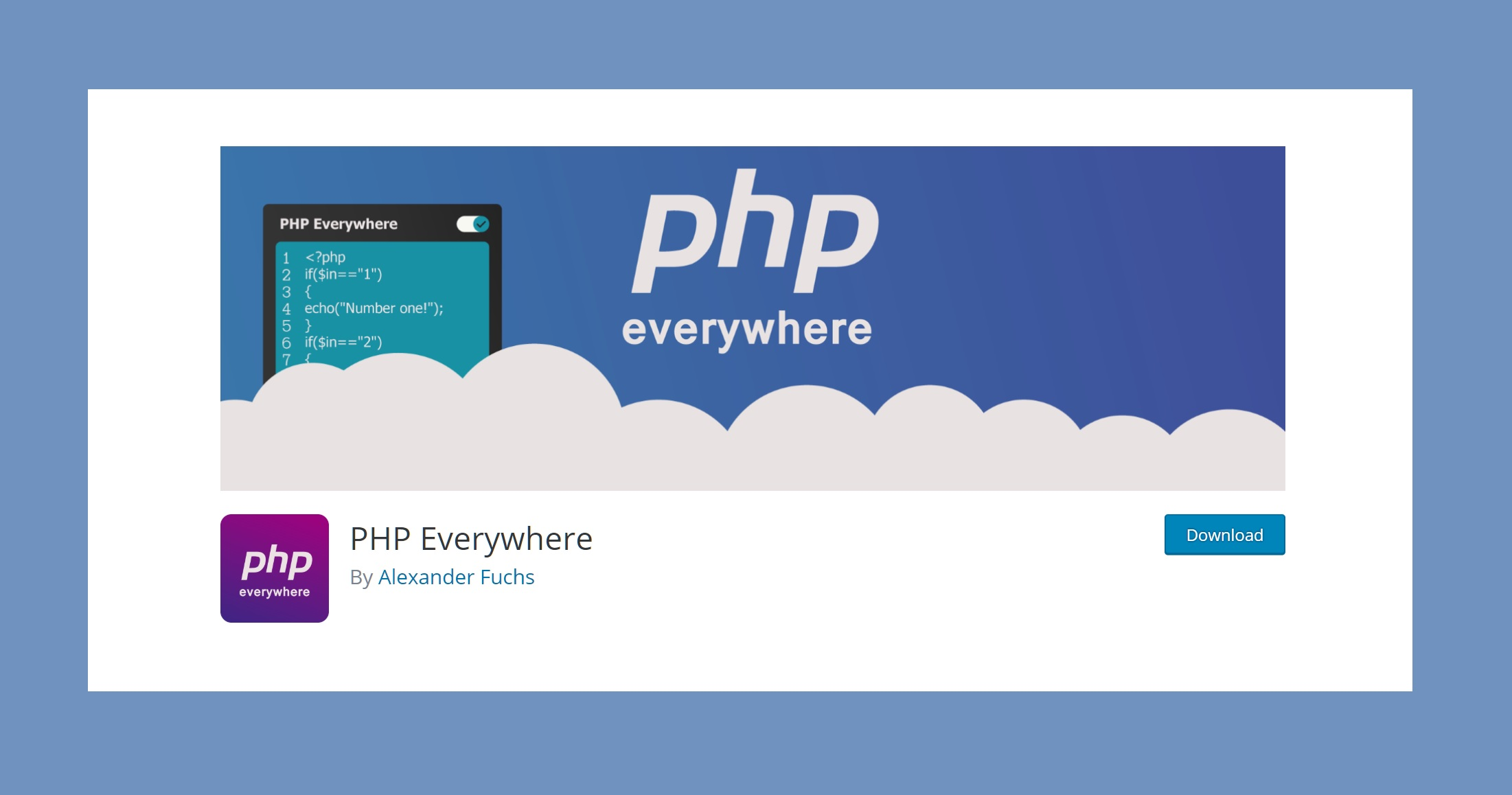 chen code PHP vao widget tren WordPress bang plugin PHP Everywhere