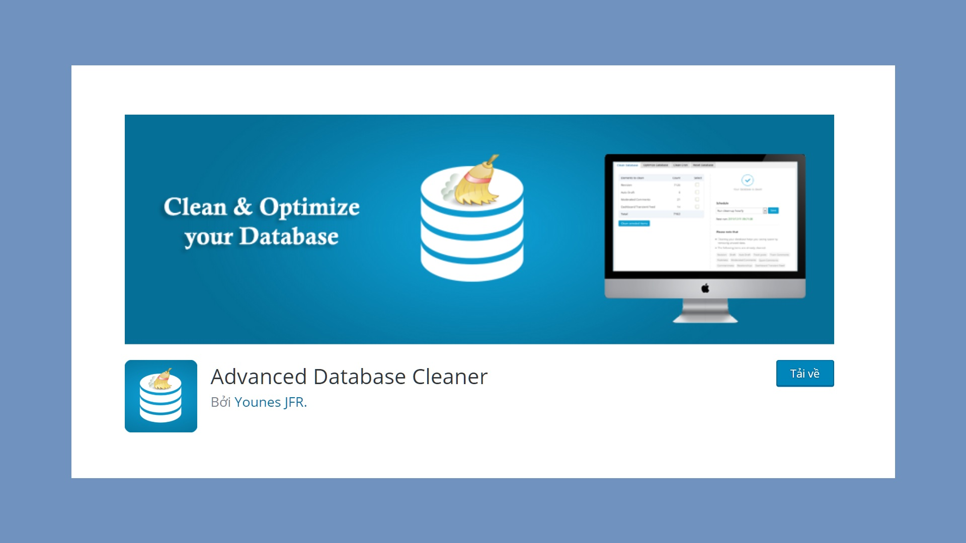 su dung plugin Advanced Database Cleaner de xoa themes tables